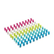 Poppin Push Pins, Assorted Colors, 100/Box (101378)