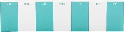 Poppin Weekly Task Pad, Aqua, (101341)