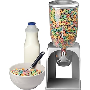 Single Cereal Dispenser, Silver