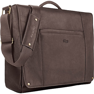 82bd7f5fba Solo Executive Leather Laptop Messenger