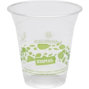 The Sustainable Earth by Staples® 12 oz. Plastic Cold Cups, Translucent, 300/Case