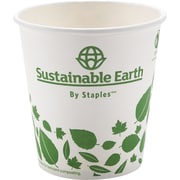 Sustainable Earth by Staples 10 oz Compostable Hot Cups, 50/Pack (SEB26218)