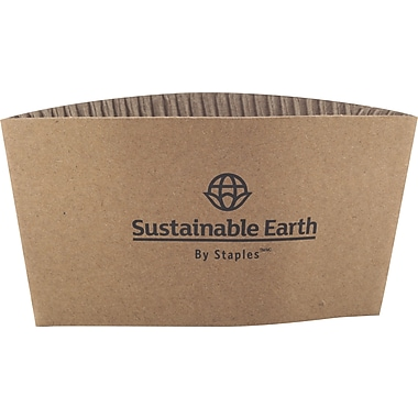 Sustainable Earth By Staples® Hot Cup Sleeves, 500/Pack