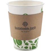 Sustainable Earth by Staples Cup Sleeves, 500/Pack