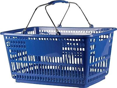 Plastic Shopping Basket, 30 Liter, 20 Baskets / Pack, Blue