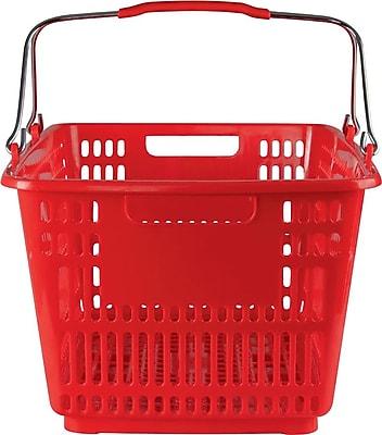 Plastic Shopping Basket, 30 Liter, Red