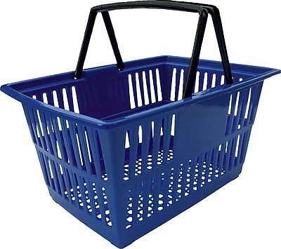Plastic Shopping Basket, 20 Liter, Blue
