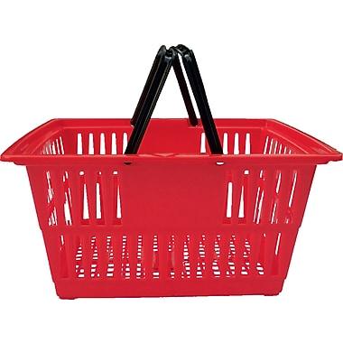 Plastic Shopping Basket, 20 Liter, Red