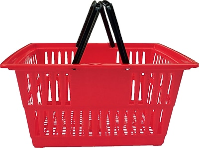 Plastic Shopping Basket, 20 Liter, 20 Baskets / Pack, Red
