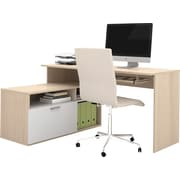 Bestar Modula L-Shaped Workstation, Northern Maple