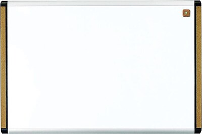 """U Brands PINIT Magnetic Dry Erase Whiteboard, 35"""" x 23"""", Silver and Black Aluminum Frame"""