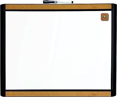 U Brands Pin It Magnetic Dry Erase Board 20 X 16 Black Frame Staples