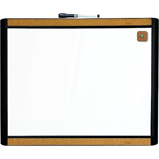 U Brands Pin It Magnetic Dry Erase Board 20 X 16 Black Frame Staples