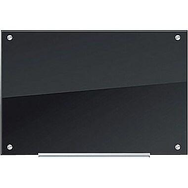 u brands glass dry erase board 35 x 23 black surface frameless