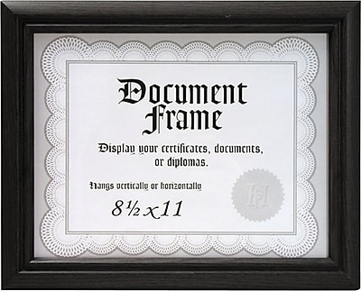 Malden Home Profiles Wood Document Frame, Black, 8.5