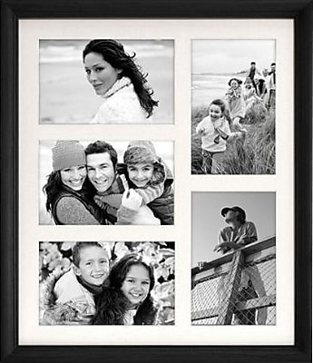 Malden Home Profiles 5-Opening Wood Collage Picture Frame, Black, 4