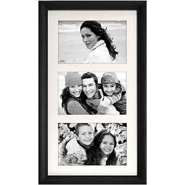 Malden Home Profiles 3-Opening Wood Collage Picture Frame, Black, 4