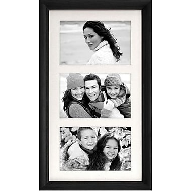 Malden Home Profiles 3 Opening Wood Collage Picture Frame, Black, 4