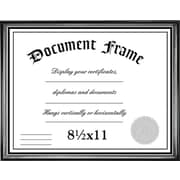 "Malden Home Profiles Wood Document Frame, Black/Silver, 8.5"" x 11"""