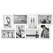 """Malden 8-Opening Wood Puzzle Collage Picture Frame, White, 4"""" x 6"""""""