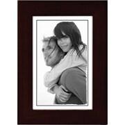 "Malden Classic Linear Wood Picture Frame, Espresso Walnut, 4"" x 6"""
