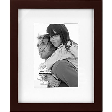 Malden Classic Linear Wood Picture Frame, Walnut, 5