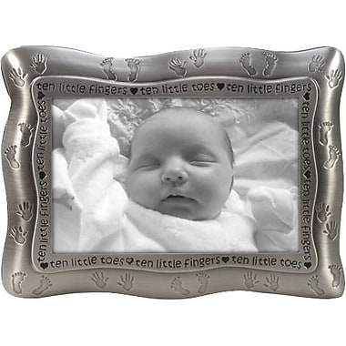 Malden Ten Little Fingers, Ten Little Toes Metal Picture Frame, Pewter, 4