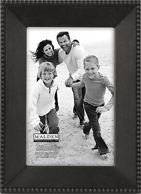 Malden Beaded Metal Picture Frame, Dark Bronze, 4