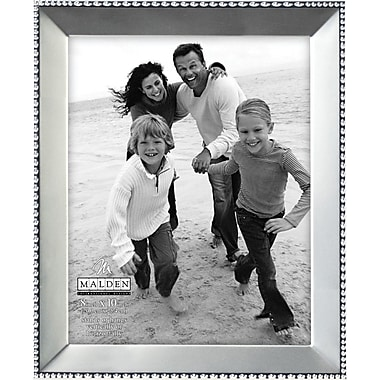 Malden Beaded Metal Picture Frame, Satin Nickel, 8