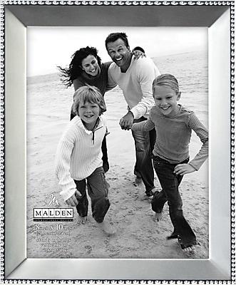 Malden Beaded Metal Picture Frame, Satin Nickel, 8