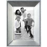 "Malden Bead Metal Picture Frame, Satin Nickel, 4"" x 6"""