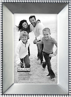 Malden Bead Metal Picture Frame, Satin Nickel, 4
