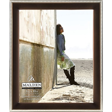 Malden Two Tone Beaded Picture Frame, Bronze/Silver, 8