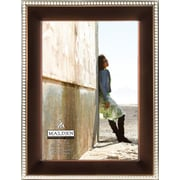 """Malden Classic Two Tone Beaded Metal Picture Frame, Bronze/Silver, 5"""" x 7"""""""