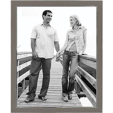 Malden Sleek Border Metal Picture Frame, Silver, 8