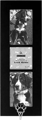 Malden 3-Opening Dog Hook MDF Picture Frame, Black, 4