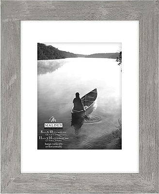 Malden Manhattan Wood Picture Frame, Gray, 8