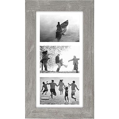 Malden Manhattan 3-Opening Wood Picture Frame, Gray, 5