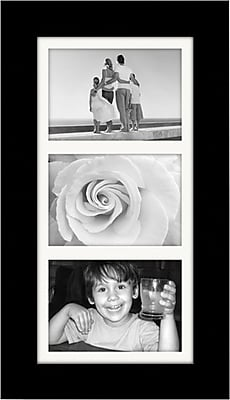Malden Manhattan 3-Opening Wood Picture Frame, Black, 5