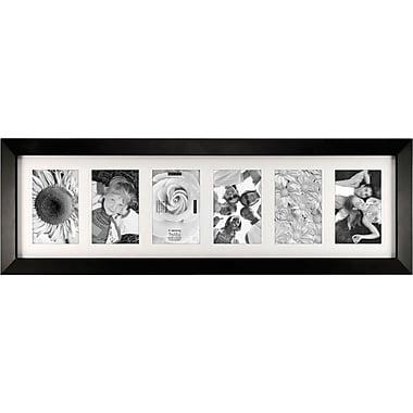 Malden Berkeley 6-Opening Wood Picture Frame, Black, 4