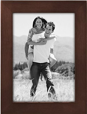 Malden Classic Linear Wood Picture Frame, Dark Walnut, 5