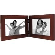 Malden Split Double Wood Picture Frame, Dark Walnut