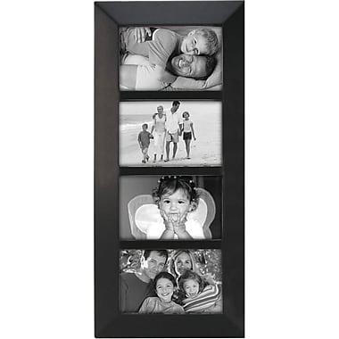 Malden Berkeley 4-Opening Beveled Edge Wood Collage Picture Frame, Black, 4