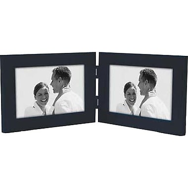 Malden Classic Linear Split Double Wood Picture Frame, Blue, 4
