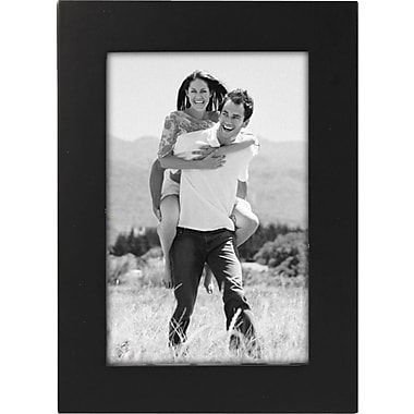 Malden Classic Linear Wood Picture Frame, Black, 4