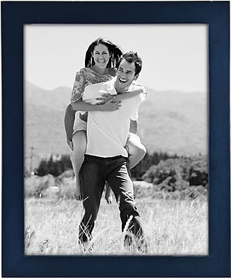 Malden Classic Linear Wood Picture Frame, Blue, 8