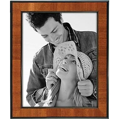 Malden Burlwood Picture Frame With Black Border, Walnut, 8