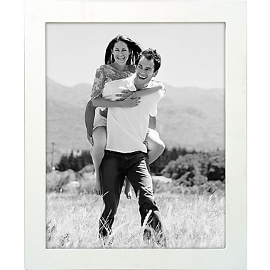 Malden Classic Linear Wood Picture Frame, White, 8