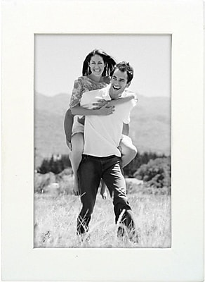 Malden Classic Linear Wood Picture Frame, White, 4