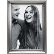 """Malden Home Profiles Concourse Metal Picture Frame, Pewter, 4"""" x 6"""""""